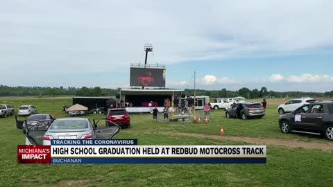 Buchanan holds graduation at Redbud Motocross track