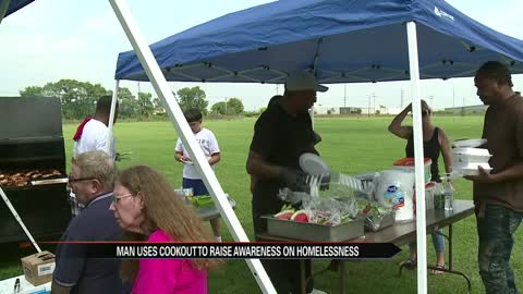 Summer cookout focuses on weather amnesty building for the homeless