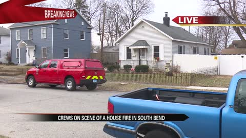 Firefighters battle house fire on Stanfield Street