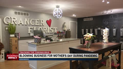 Granger florist sees boost in Mother's Day flower delivery amid pandemic