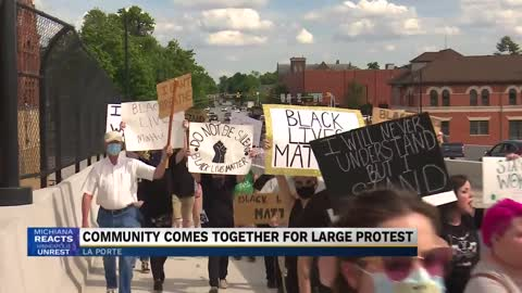 Three protest groups meet in La Porte for peaceful demonstrations