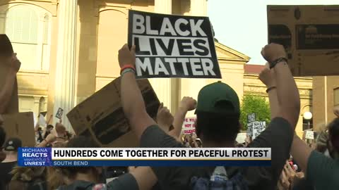 Hundreds gather for Black Lives Matter protest in South Bend