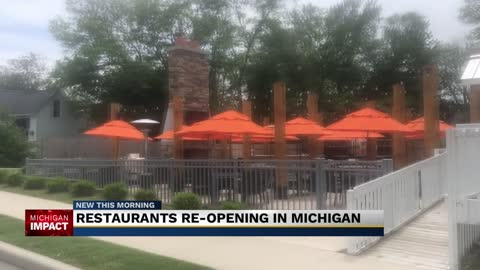 Restaurants re-opening in Michigan