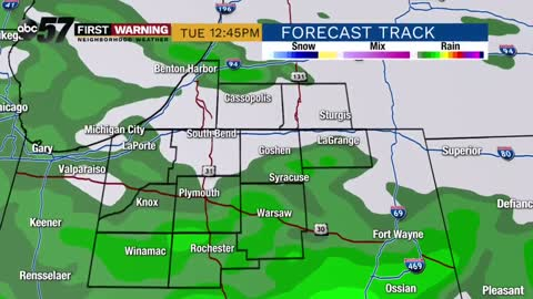 Cooler week ahead with rain on Tuesday