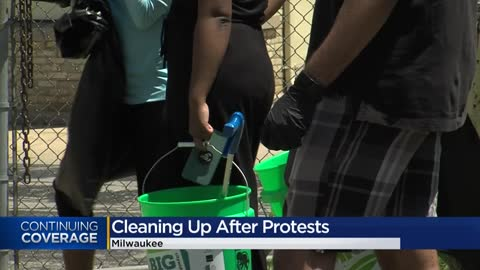'This is our form of protest': Milwaukee residents paint...