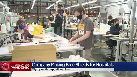 Local company known for making mascots switches production line to face shields for medical workers