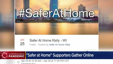 Wisconsin residents unite online for virtual rally to support Stay-at-Home orders