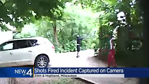 Home surveillance video shows shots fired incident near 35th and Highland