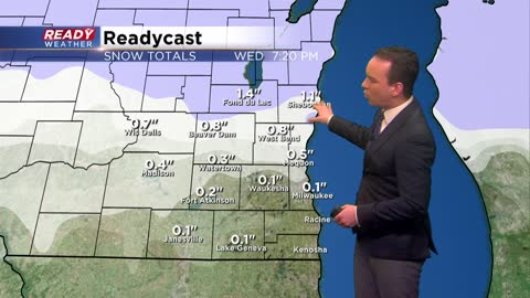 Next round of snow and mix arrives Wednesday