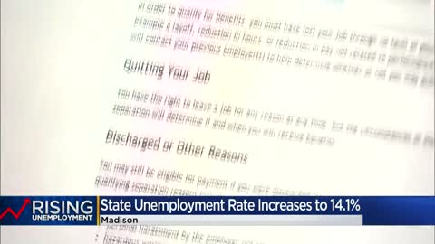 Wisconsin unemployment rate hits 14.1% in April